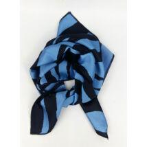 Kis kendő csíkos mintával kék fekete színben