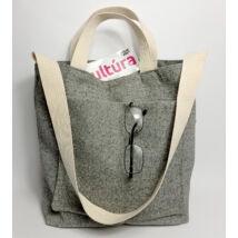 MARISOL galamb szürke szövet táska pici cipzáros pénztárcával