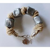MARISOL mediterrán karkötő ezüst színben függővel