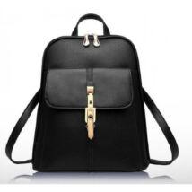 NÁRCISZ fekete elegáns hátizsák gyönyörű csattal