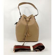 NOBO bézs színű elegáns táska színes hosszú pánttal