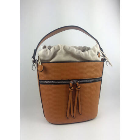 BONI modern formával barna táska anyaggal bélelve