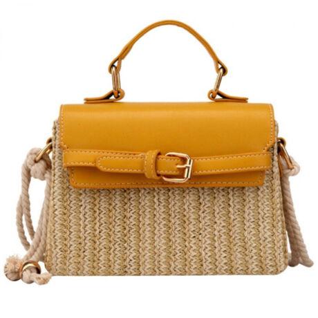 LOLA fonott sárga színben pompázó gyönyörű kis táska