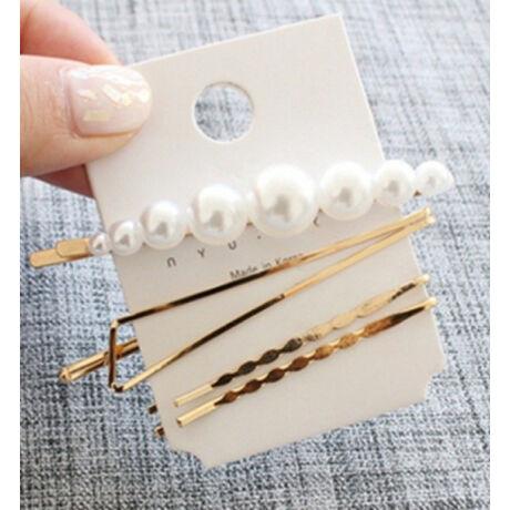 Divatos hajtűkészlet gyöngyökből négy darabos