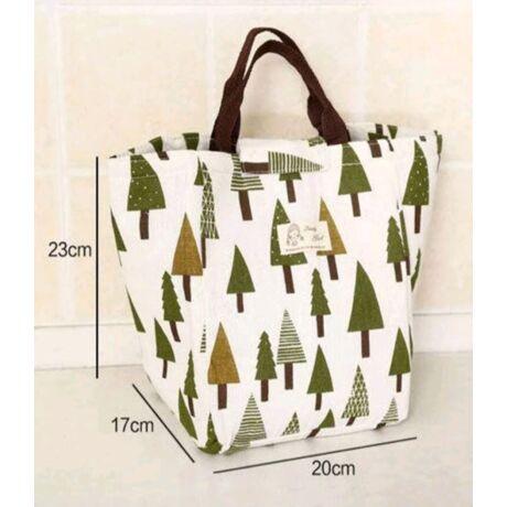 LOUNCH BOX karácsonyfa mintás táska belső thermo kialakítással