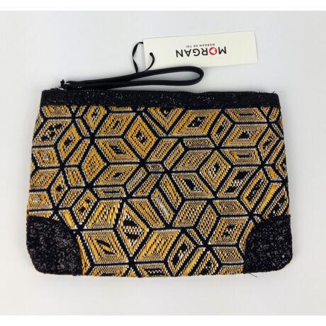 MORGAN Lap táska fekete kövekkel sárga színben szőtt anyagból Eredeti ára 25 euro!