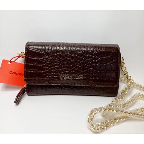 VALENTINO barna lap kis táska hosszú lánccal