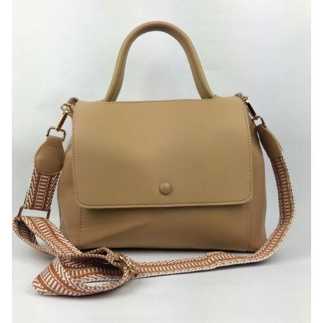 LOUNA drapp táska elegáns forma szép vállpánttal