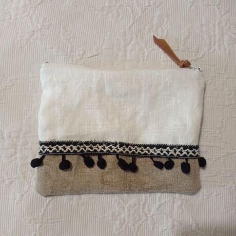 MARISOL Textil neszesszer cipzárral belső béléssel